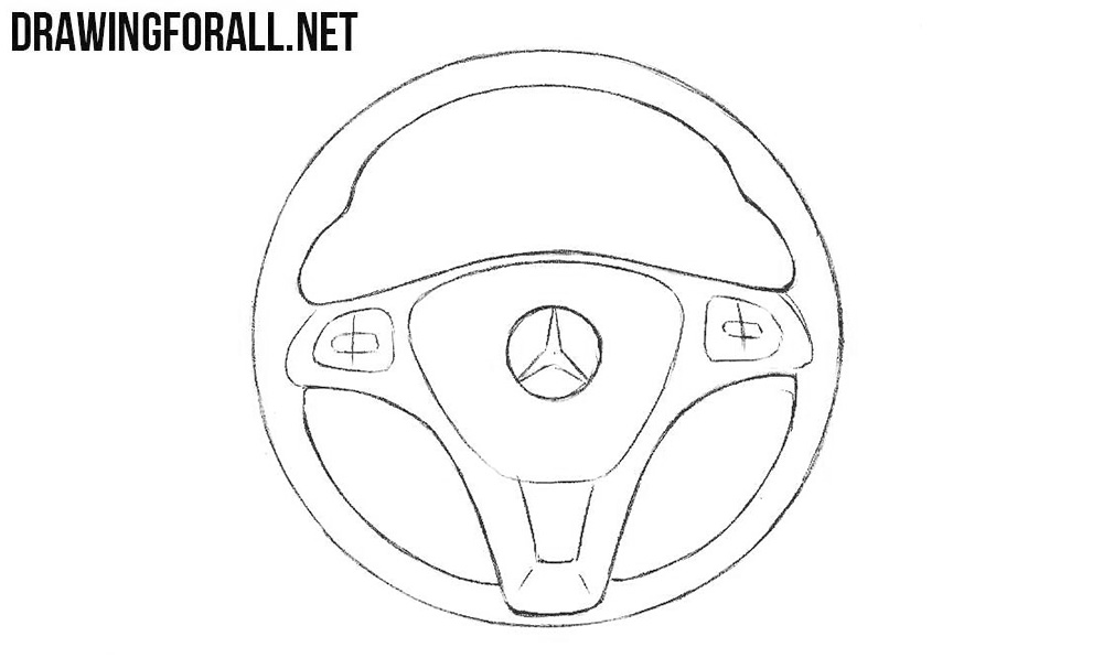 Steering wheel drawing