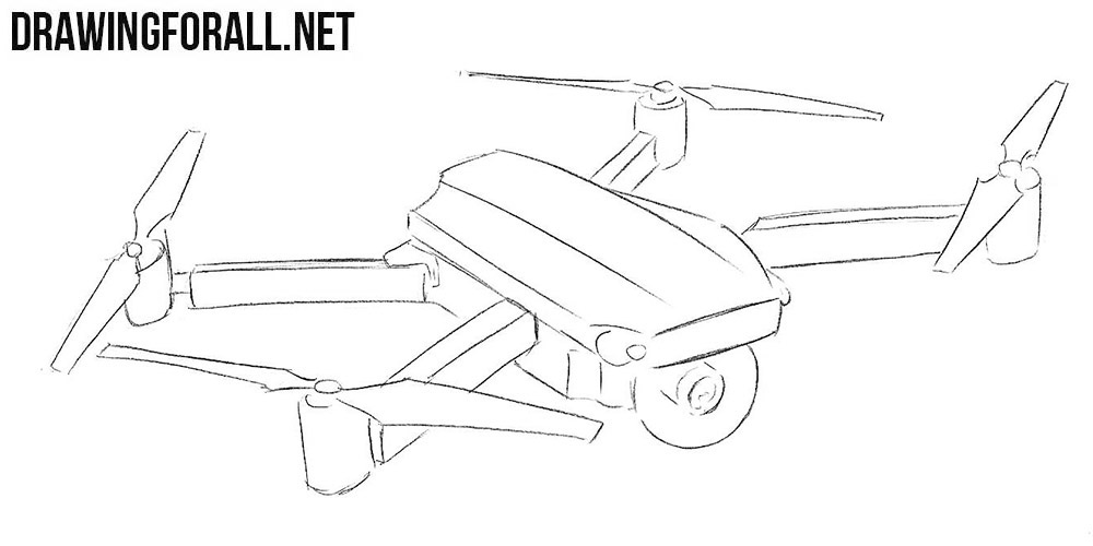 quadcopter drawing