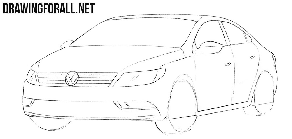 How to draw a Volkswagen CC