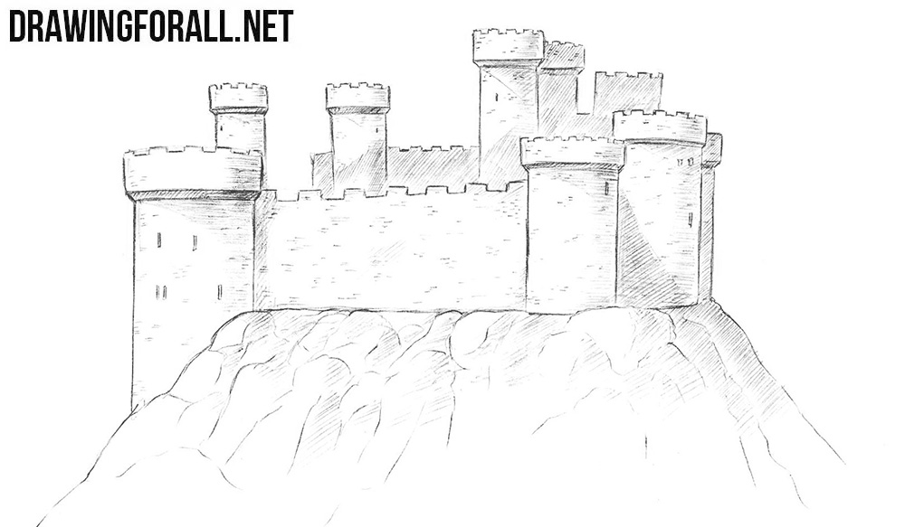 how to draw a castle drawingforall net