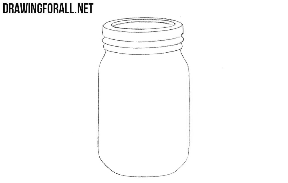 Line Drawing Jar : How to draw a jar drawingforall