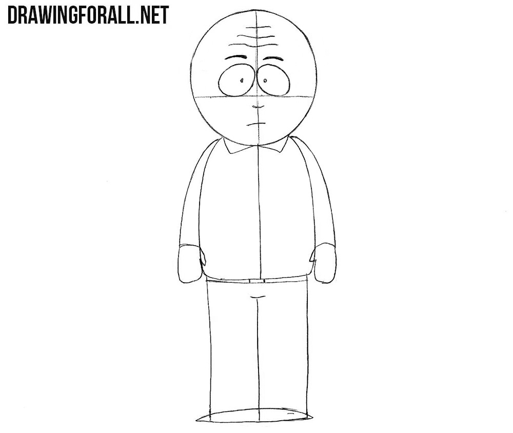 How to sketch Mr. Garrison