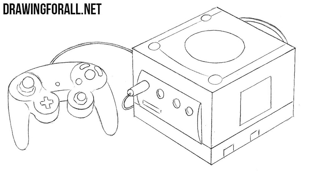 Nintendo GameCube drawing
