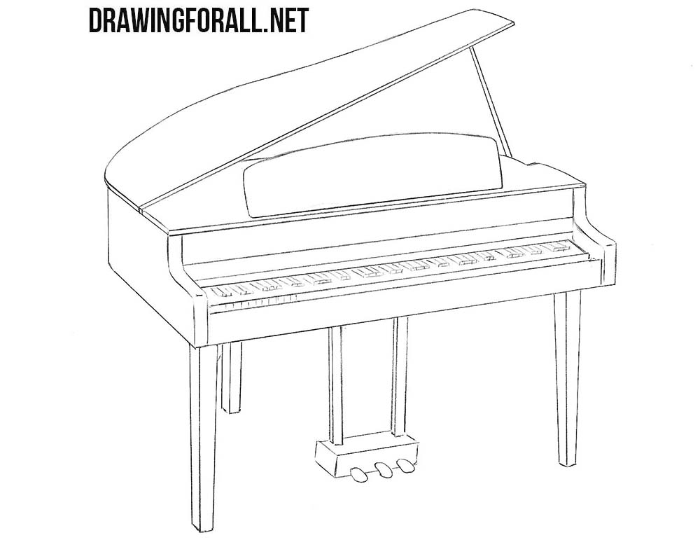 Piano drawing tutorial