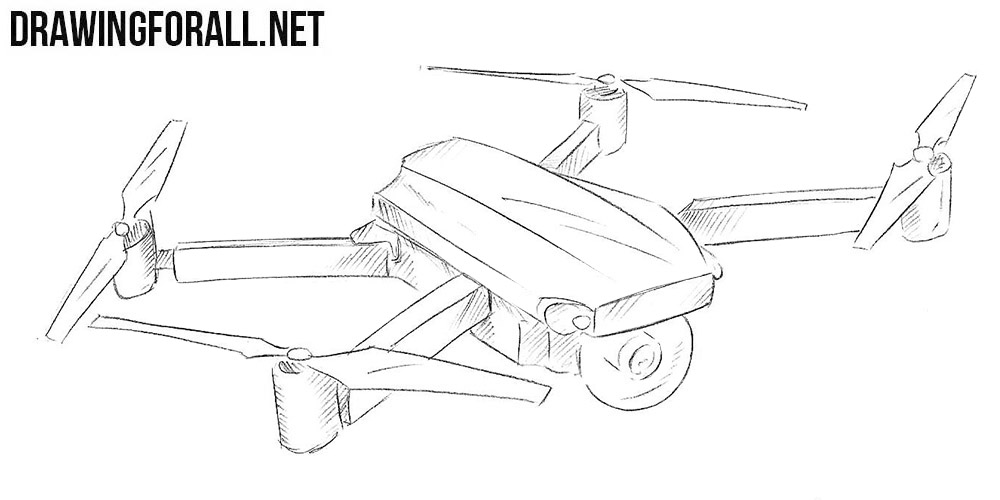 how to draw a quadcopter