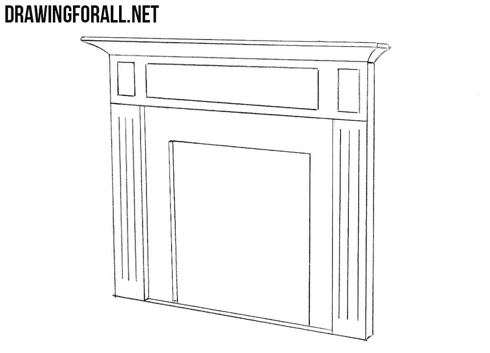 Fireplace drawing tutorial