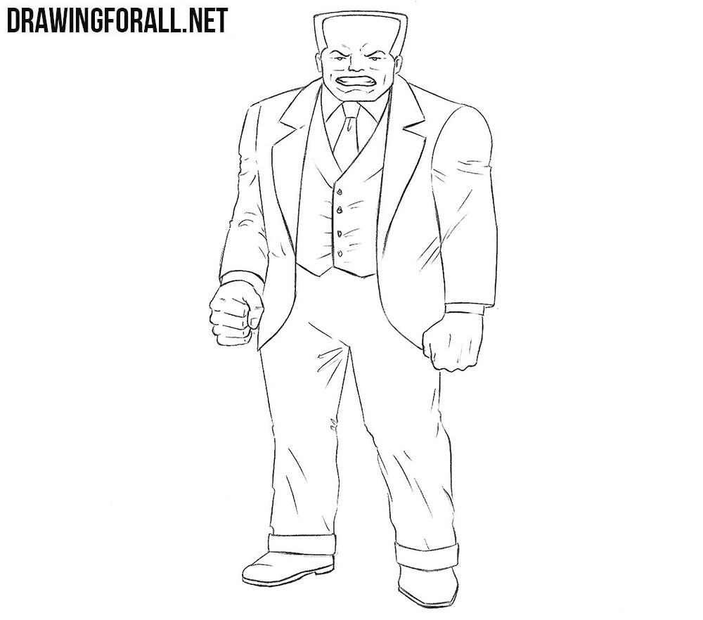 Hammerhead from Marvel drawing tutorial