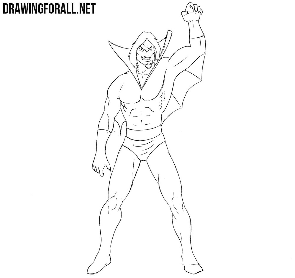 How to draw Morbius from Marvel comics