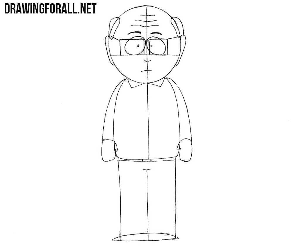 How to draw Mr. Garrison