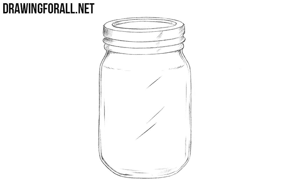 How to draw a jar