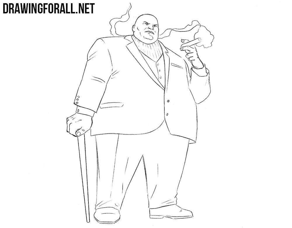 Kingpin from Marvel drawing