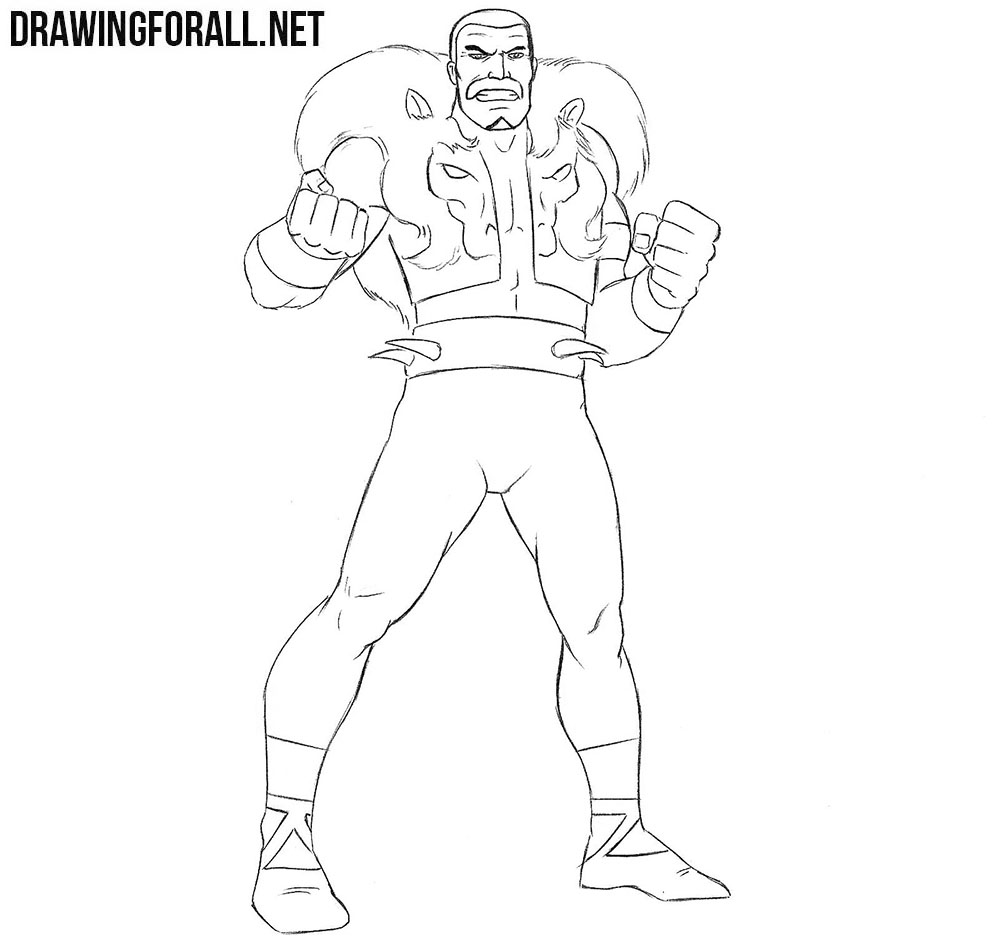 Kraven the Hunter drawing tutorial