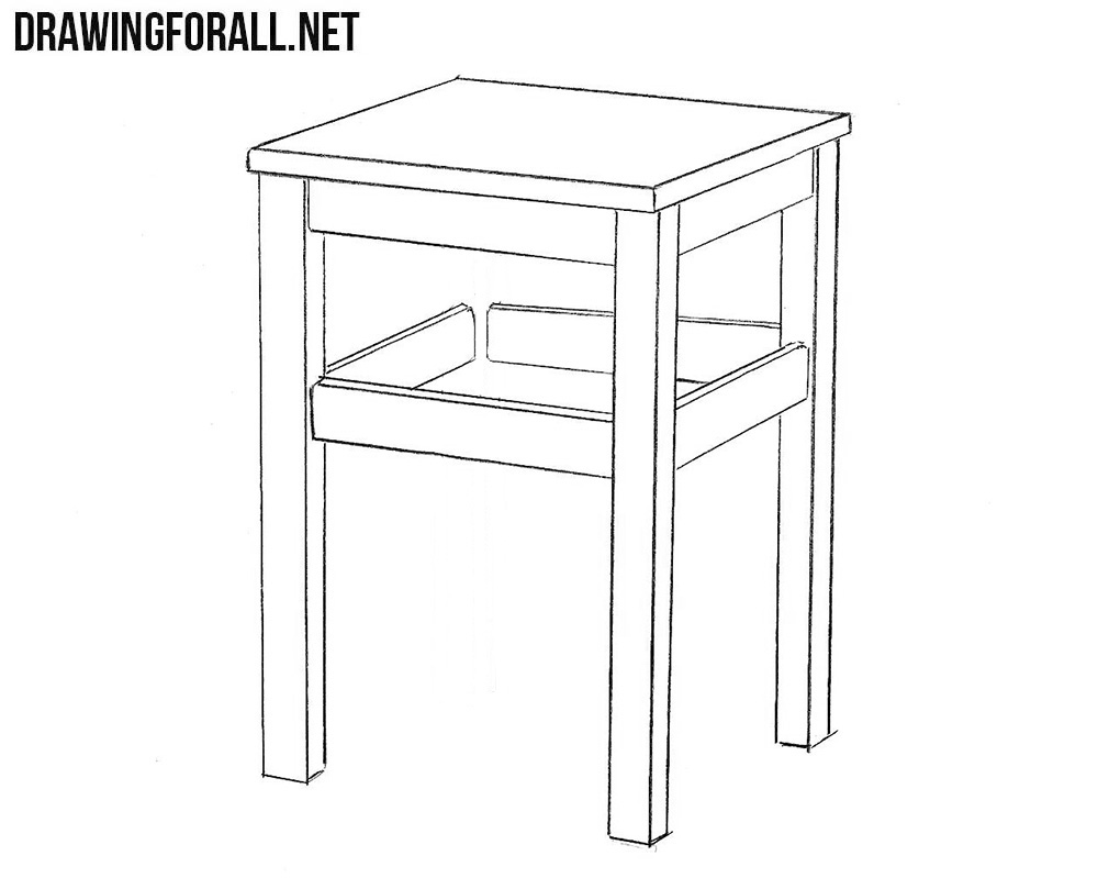 how to draw a stool