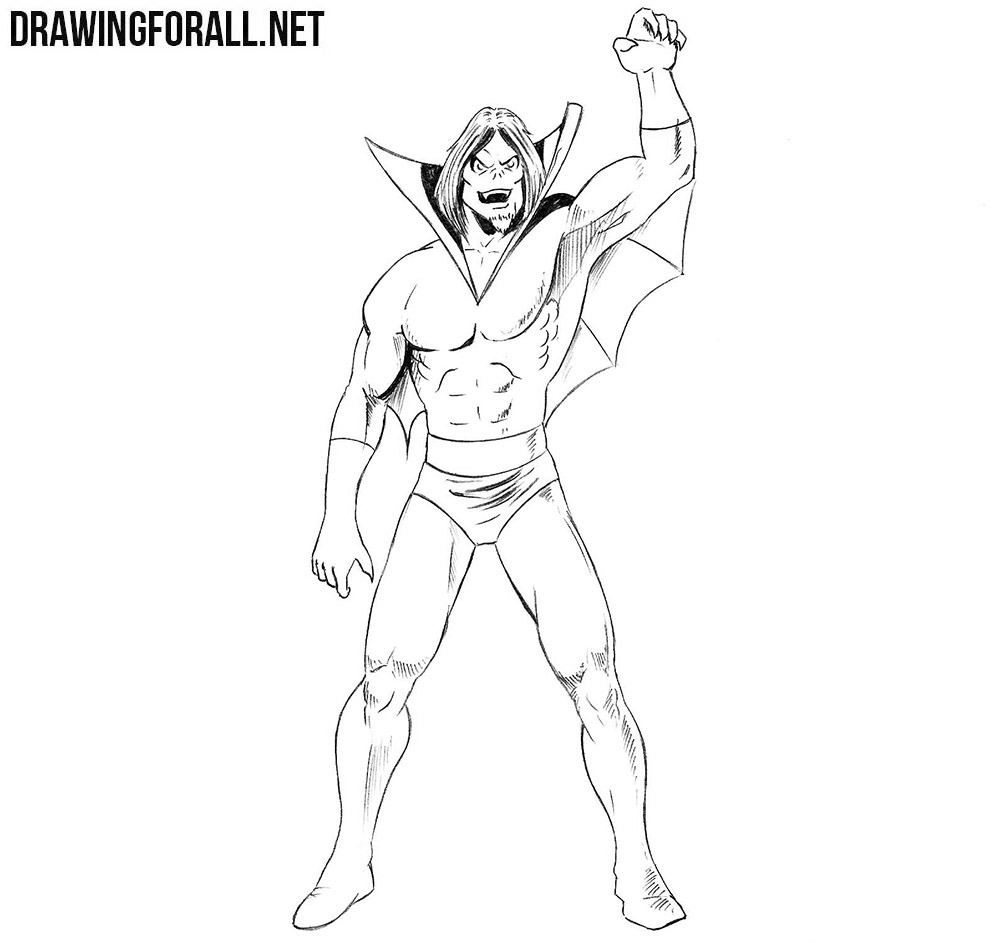 How to draw Morbius