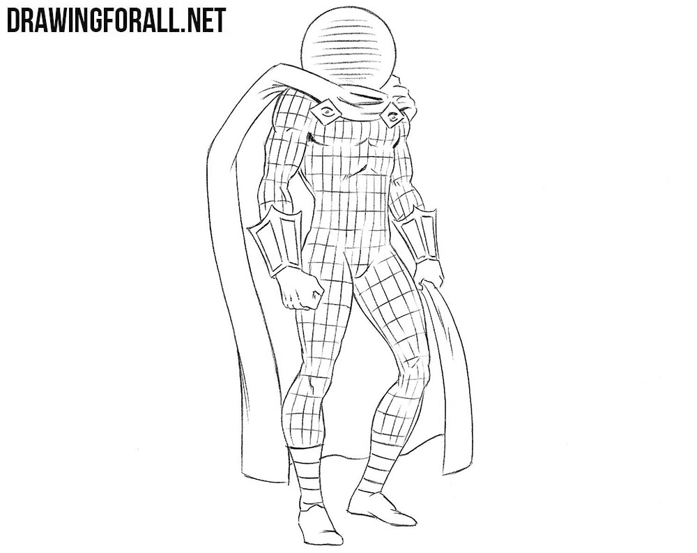 Mysterio drawing tutorial
