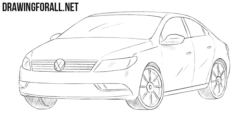 How to draw a Volkswagen Passat CC