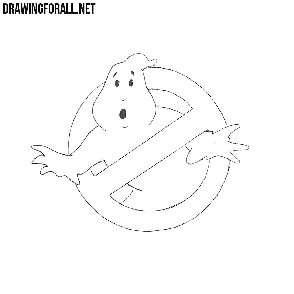 How To Draw Ghostbusters Logo Drawingforall Net