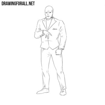How to Draw Chameleon from Marvel