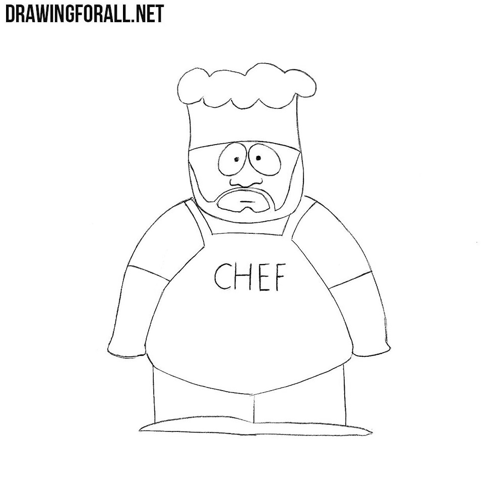How to Draw Chef from South Park