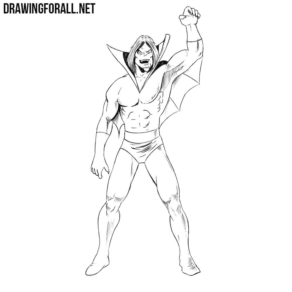 How to Draw Morbius from Marvel