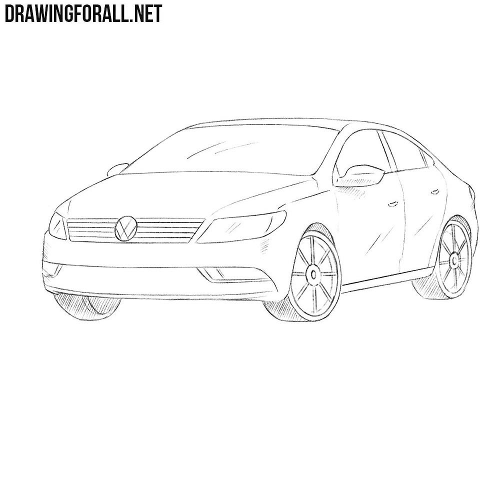 How to Draw a Volkswagen Passat CC | DrawingForAll.net