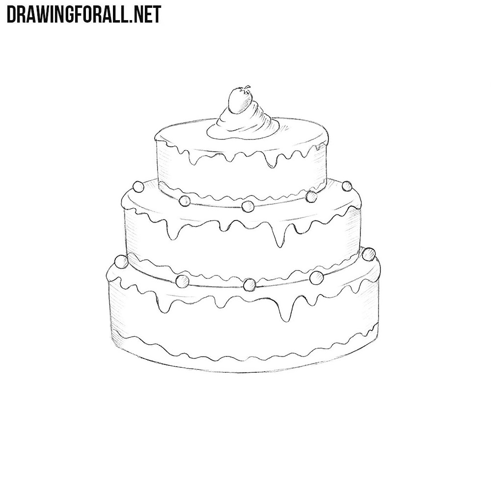 How to Draw a Cake