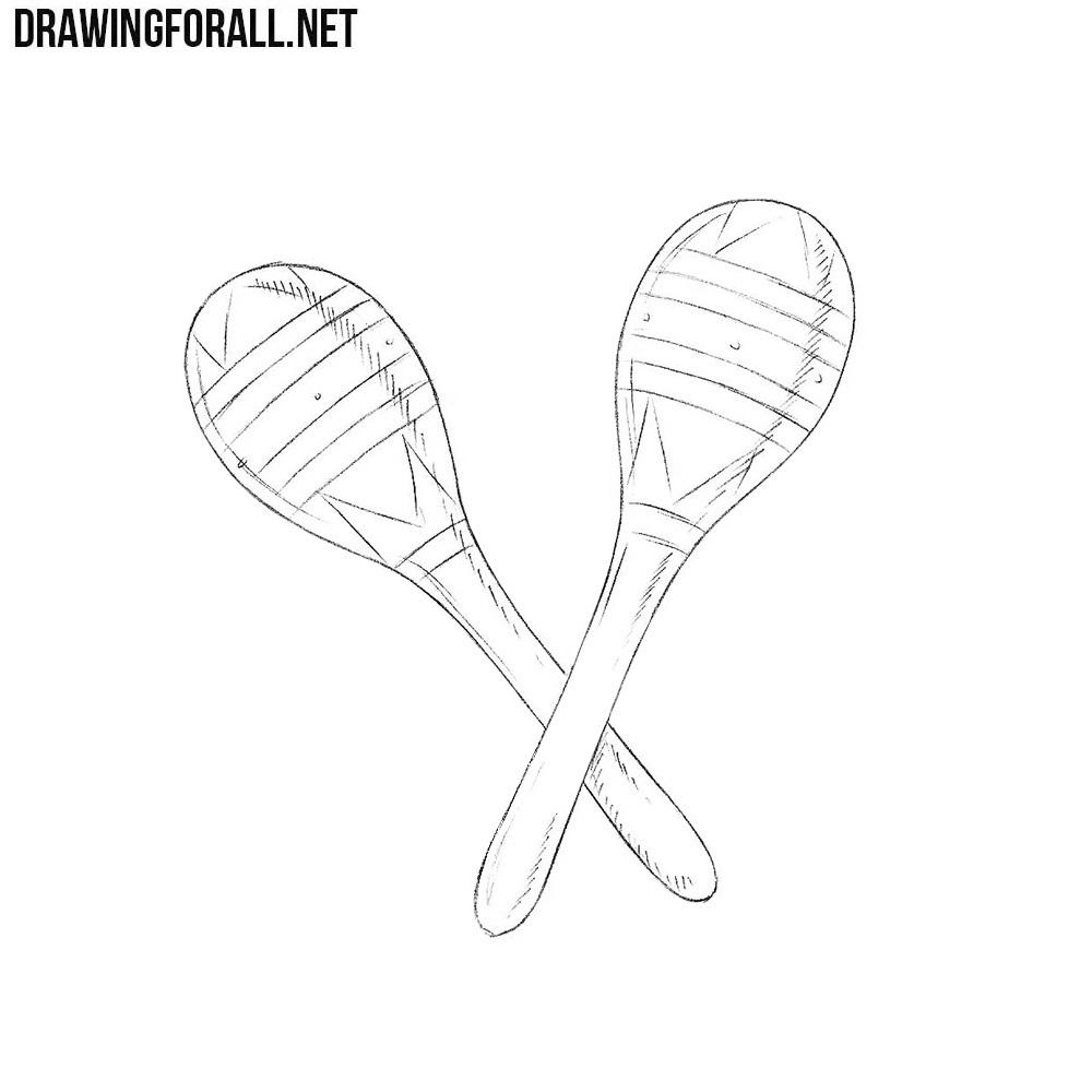 How to Draw a Maracas
