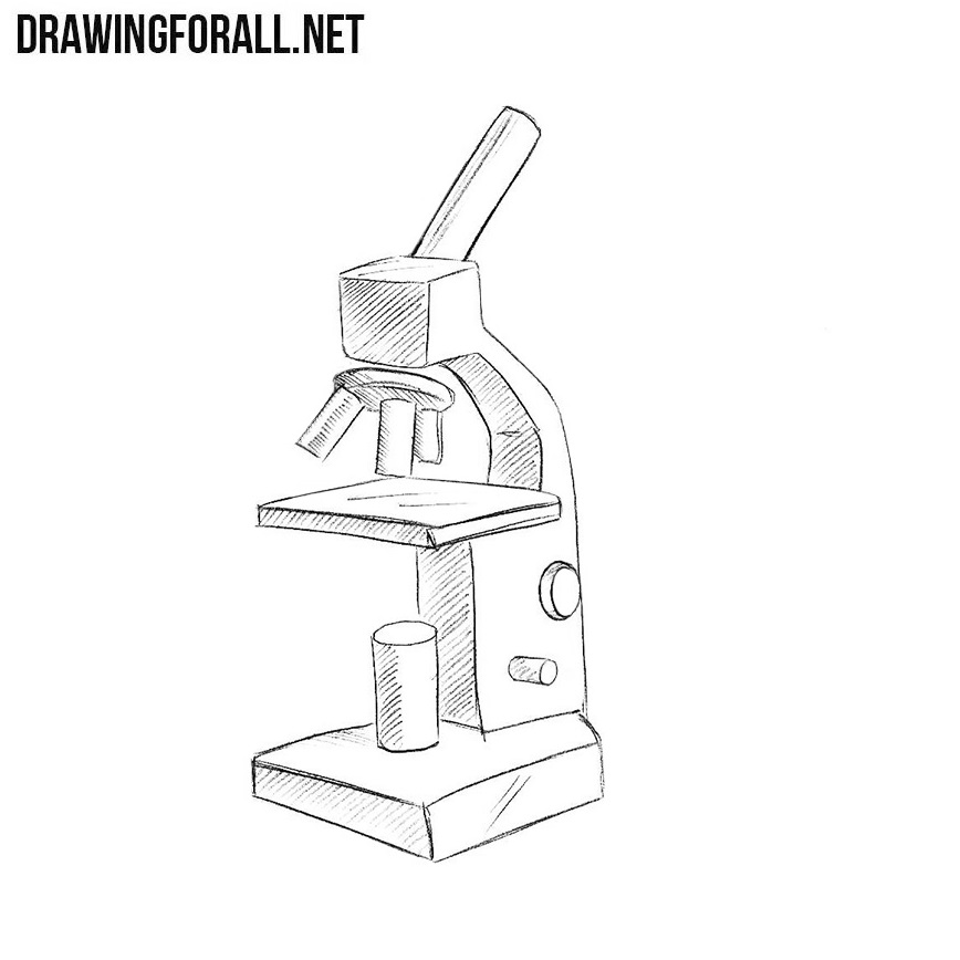 How to draw a microscope easy drawingforall ccuart Choice Image