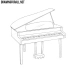How to Draw a Piano