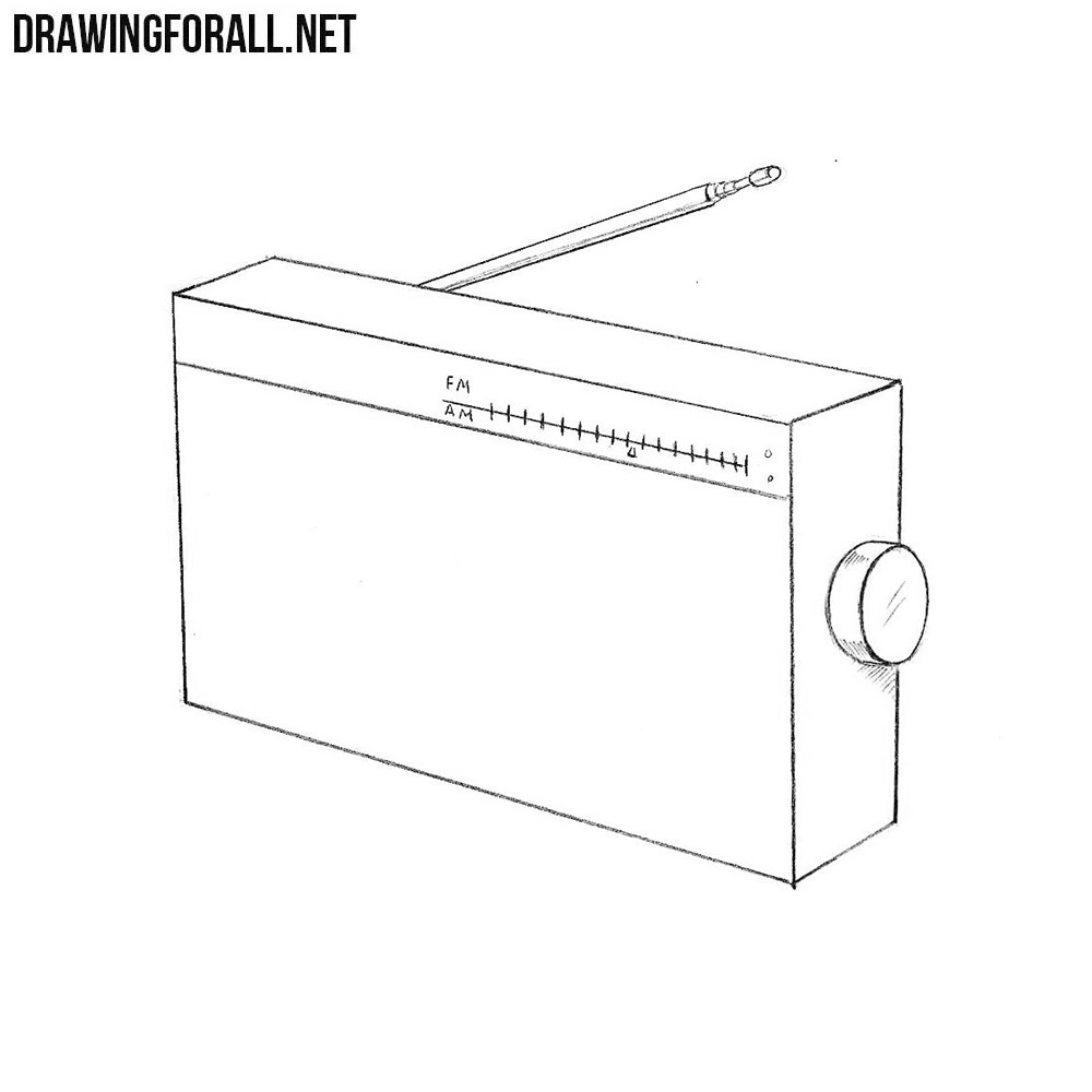 How to Draw a Radio Step by Step