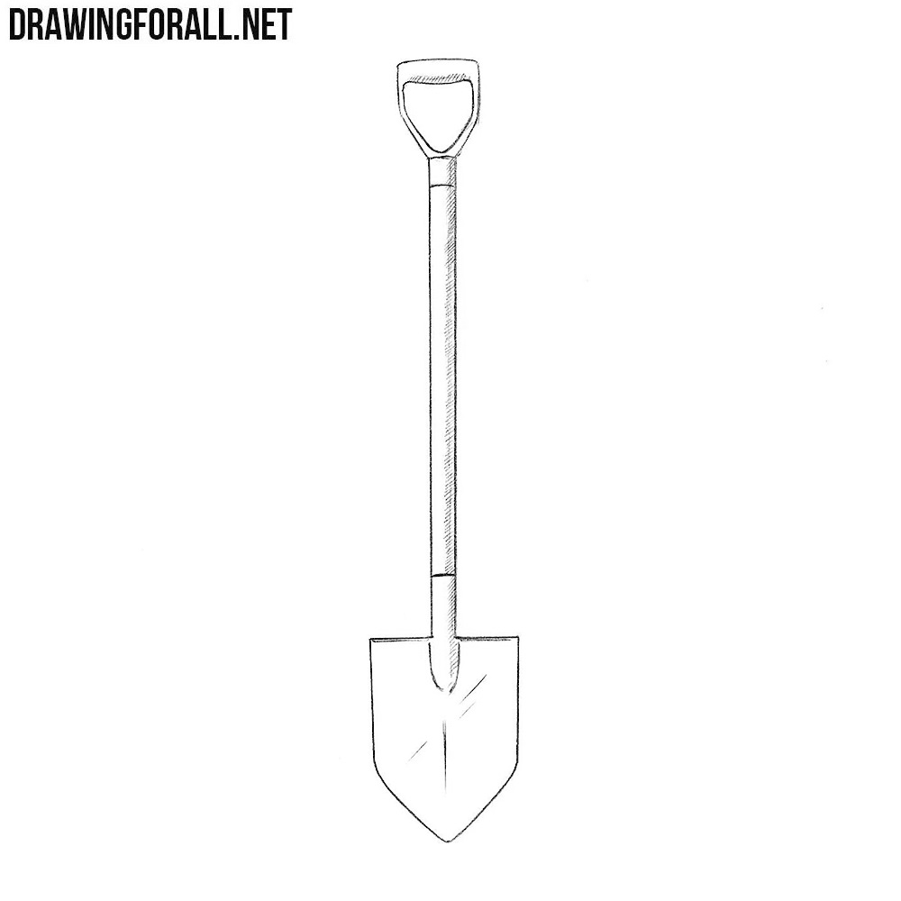 How to draw a shovel drawingforall net
