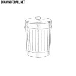 How to Draw a Trash Can