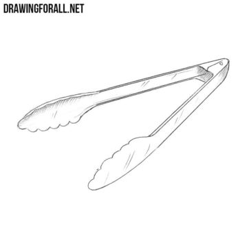 How to Draw Tongs