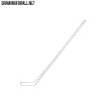 How to Draw a Hockey Stick Easy
