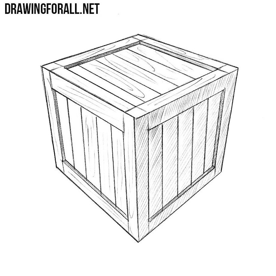 Line Art Box Design : How to draw a box drawingforall