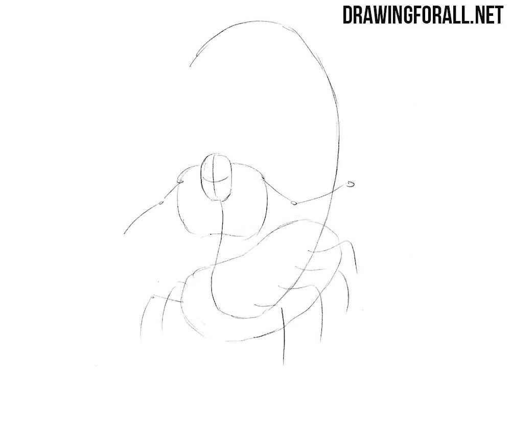 How to draw a Aqrabuamelu