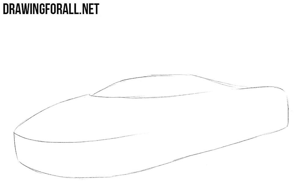 How to draw a McLaren p1 gtr
