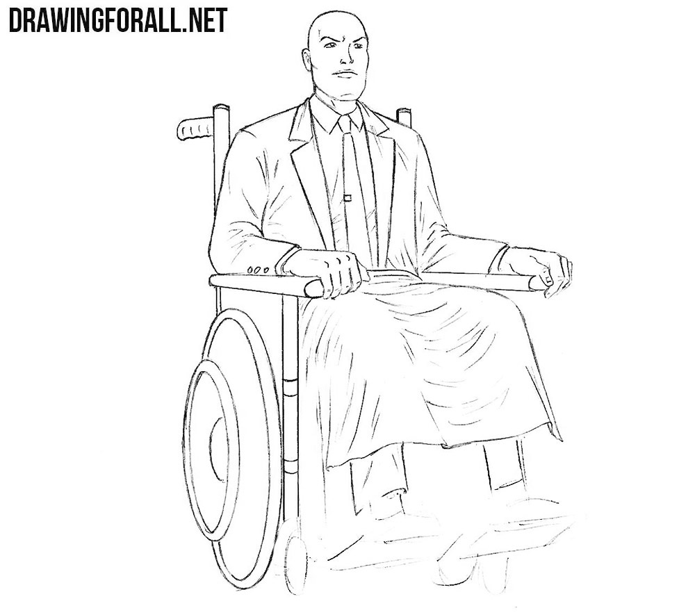 How to draw Charles Xavier