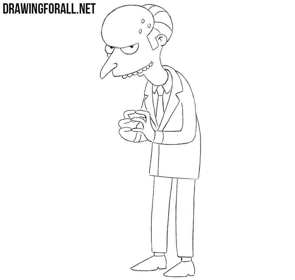 How to draw Mr Burns