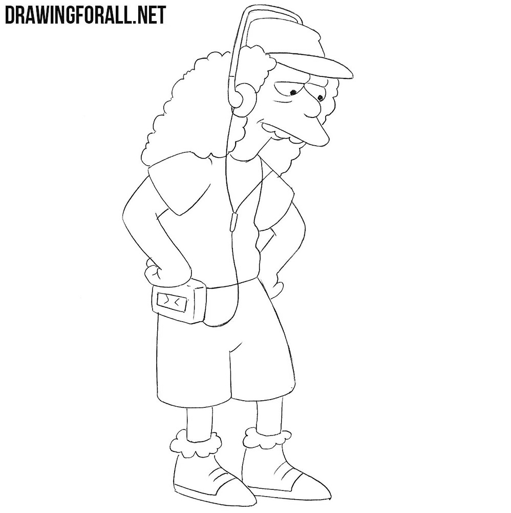 How to draw Otto Mann from the simpsons
