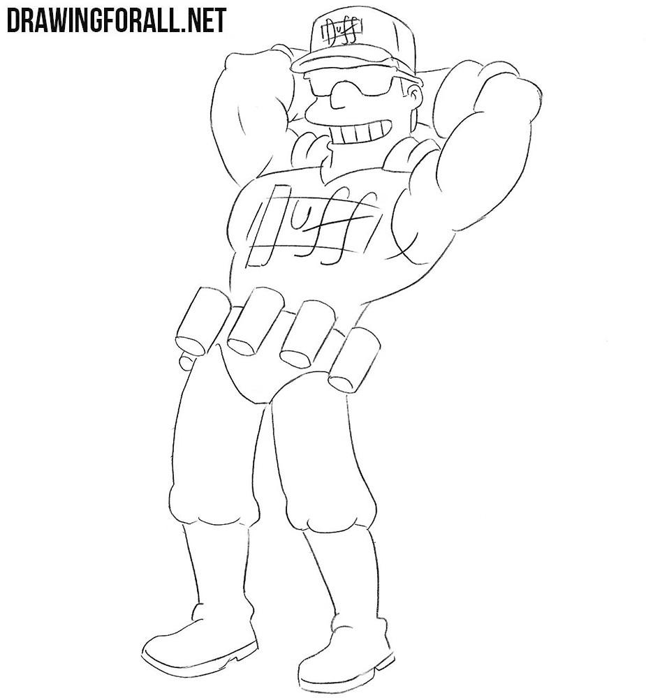 Duffman drawing tutorial