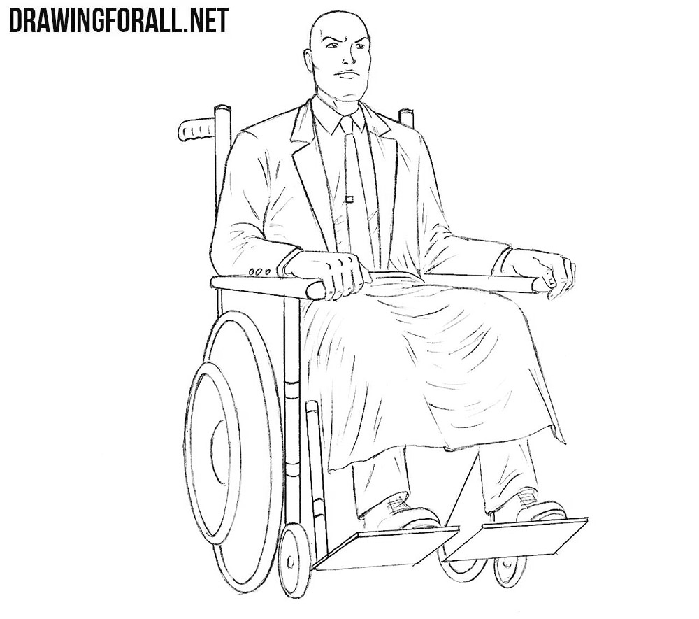 How to draw professor xavier