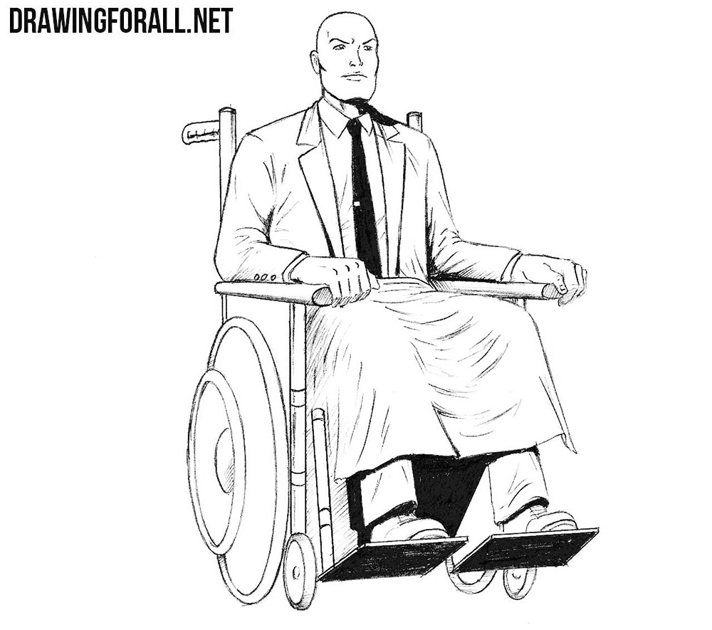 How to draw Professor X