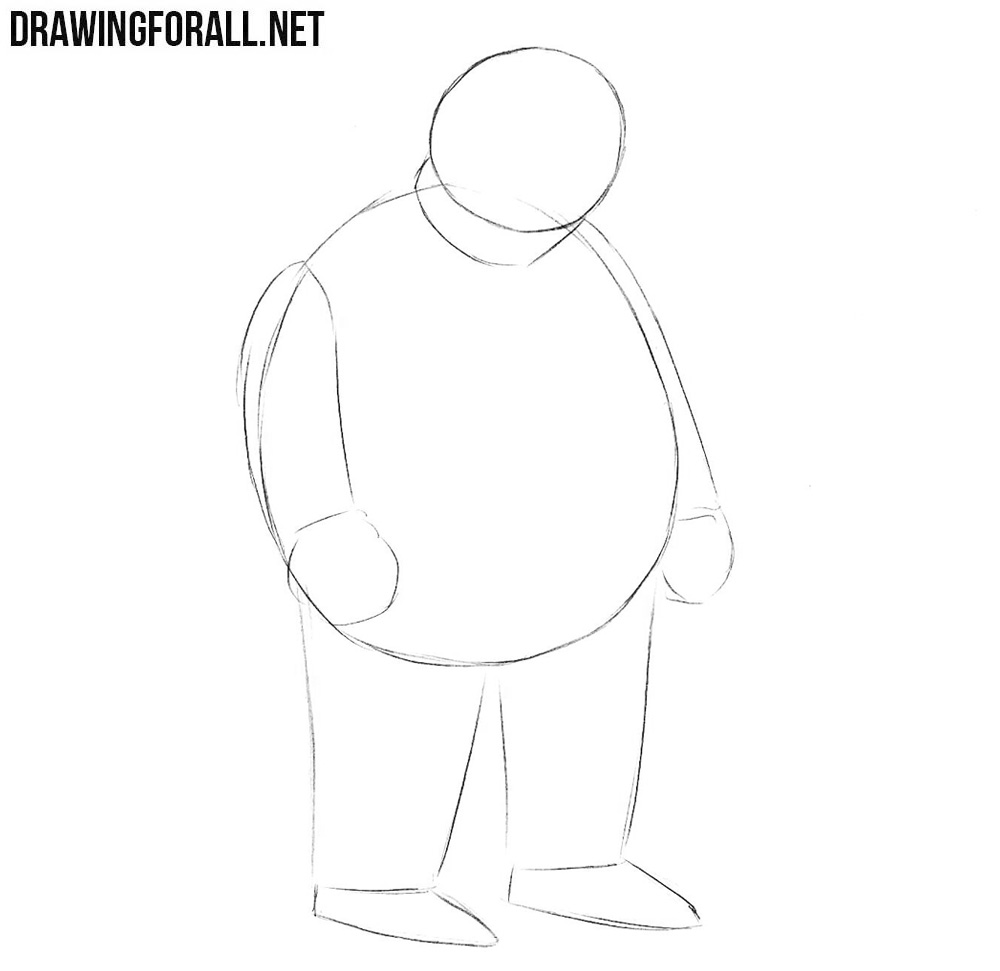 How to draw Fat Tony step by step