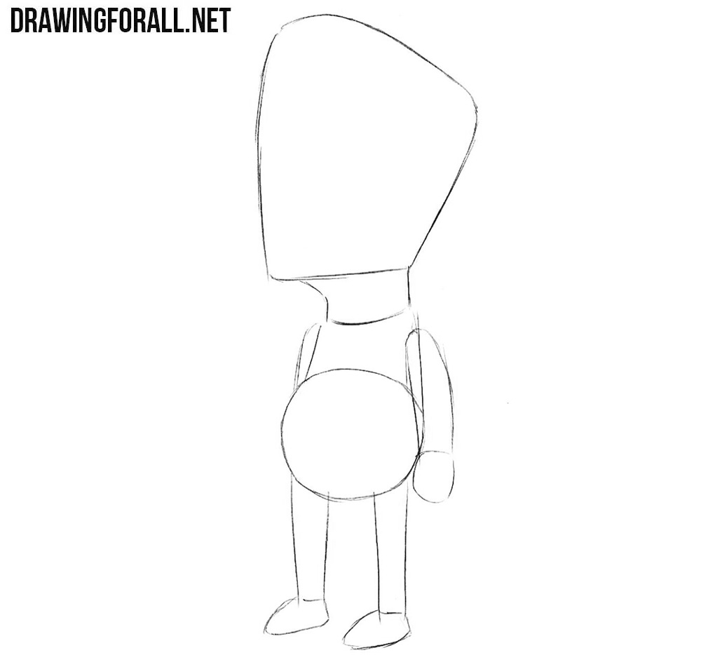 How to draw Milhouse