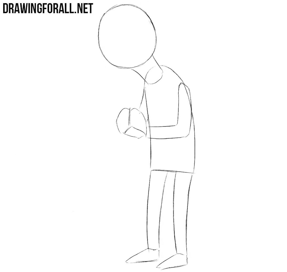 How to draw Mr Burns step by step