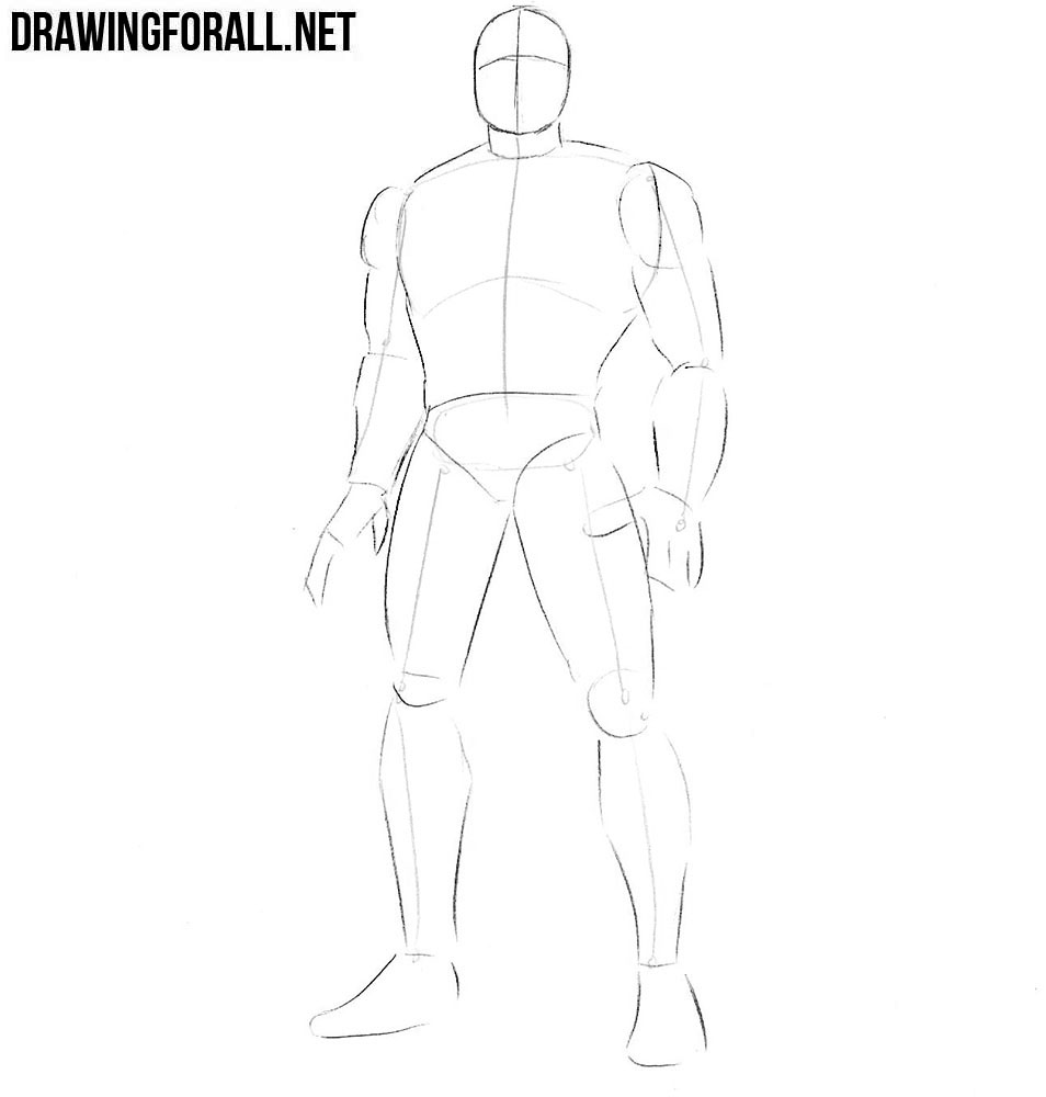 How to draw Multiple Man step by step