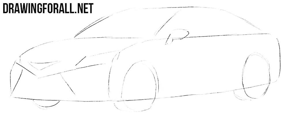 How to draw Toyota car