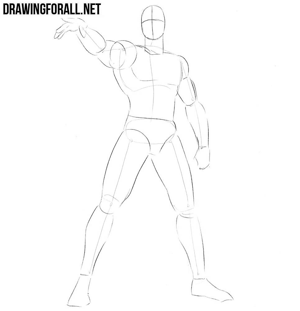 How to draw Vision step by step