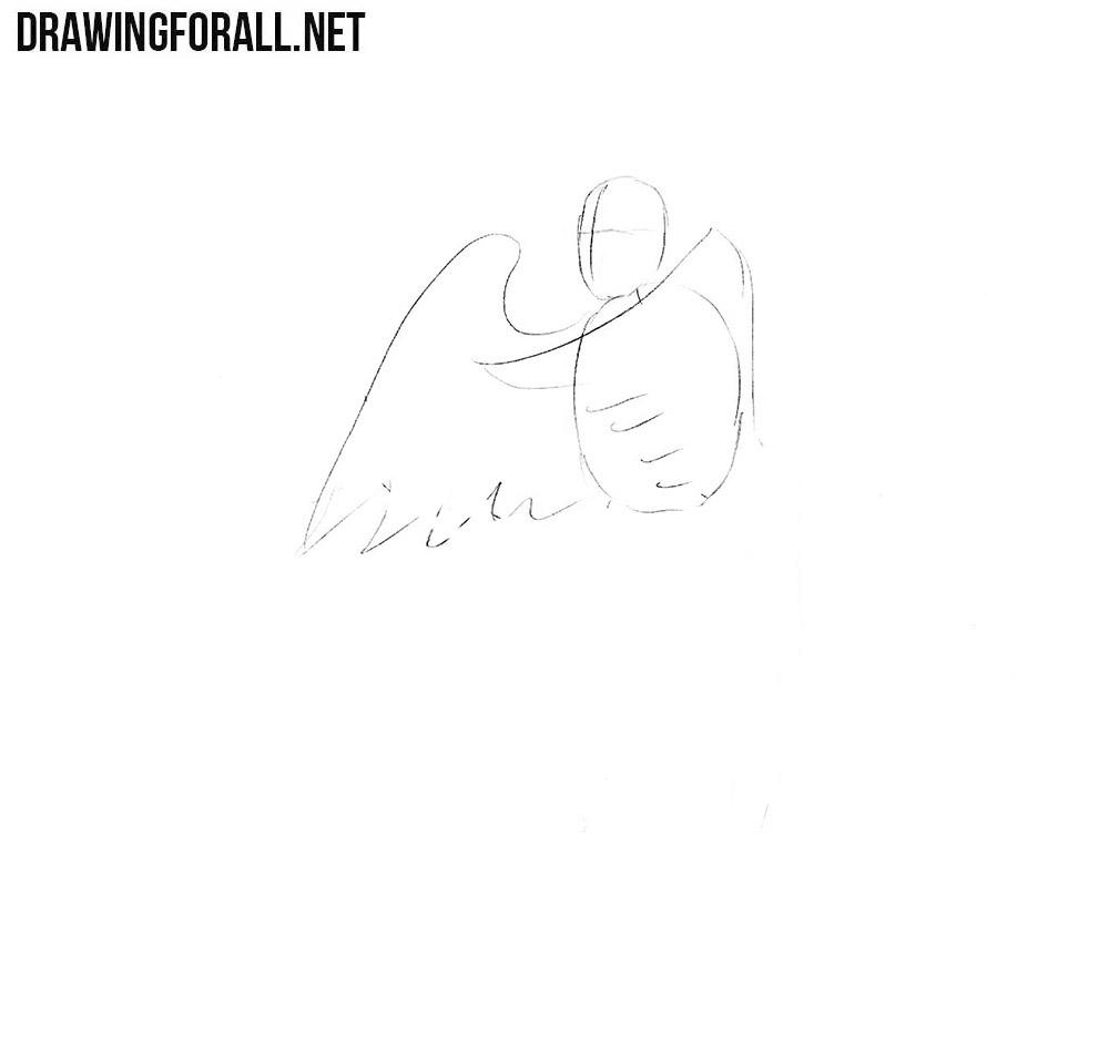 How to draw a Gamayun bird